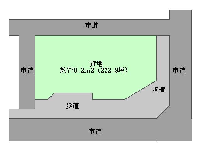 角田 貸地 区画図
