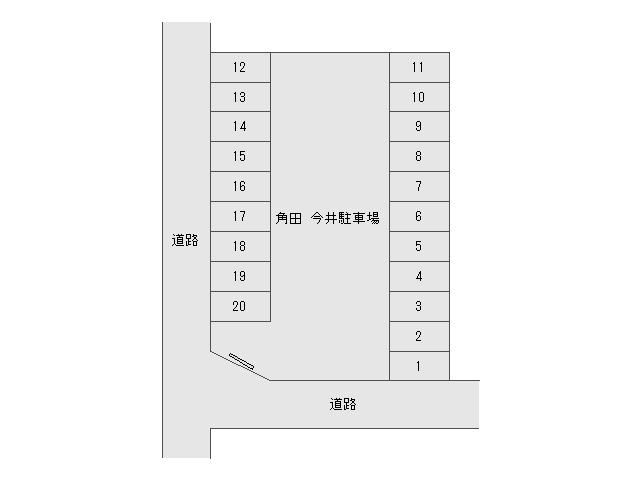 角田 今井駐車場駐車場 配置図