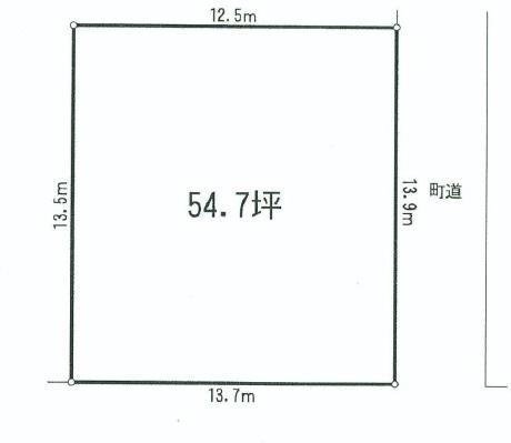 愛川町 半原 売地 区画図