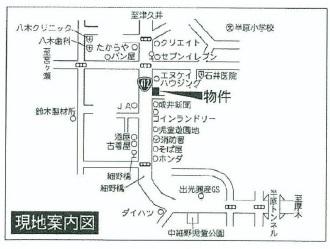 愛川町 半原 売地 案内図