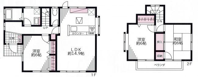 中津 中古住宅 間取り図