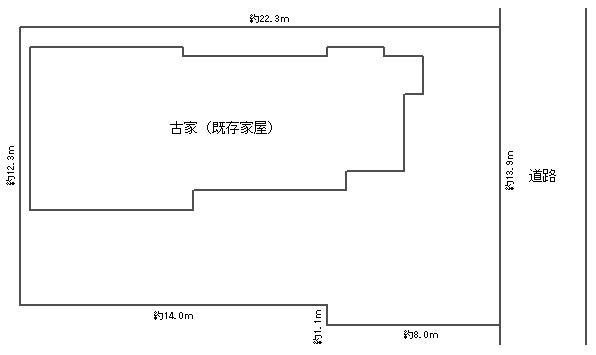 中津 売地 敷地図