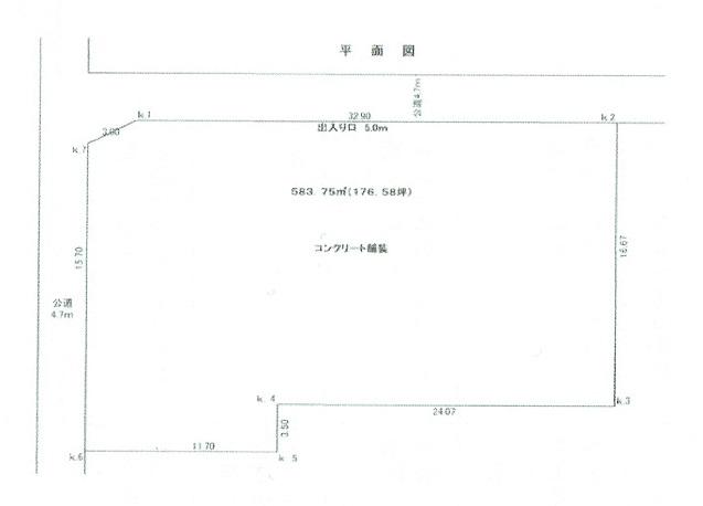 八菅山 貸地 区画図