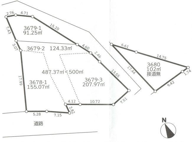 清川村 売地 区画図
