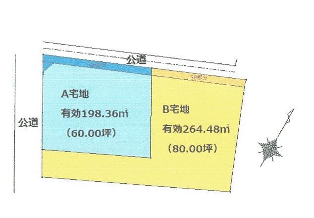下川入 売地 区画図