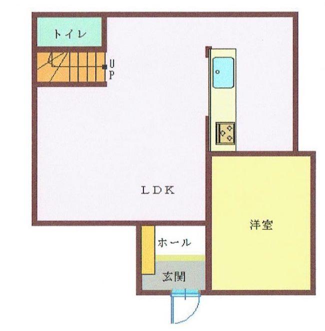 下川入 中古住宅 間取り図