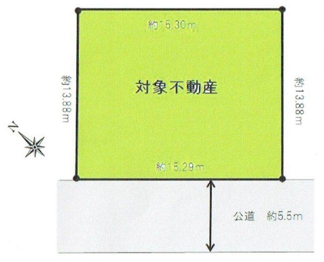 春日台一丁目 売地 区画図