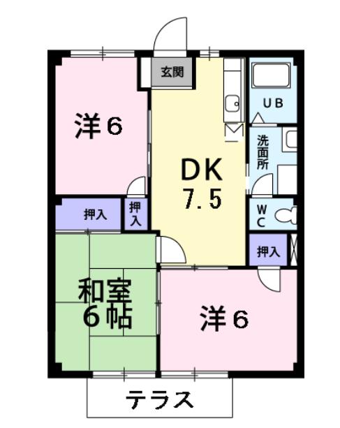シティハイツ熊坂Ⅱ 間取り図