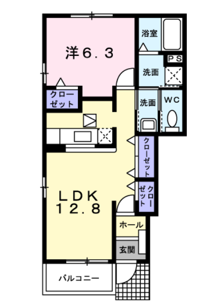 エレガントパレスKUMAZAWA 間取り図