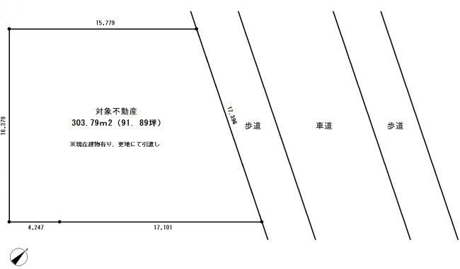 春日台 売地 敷地図
