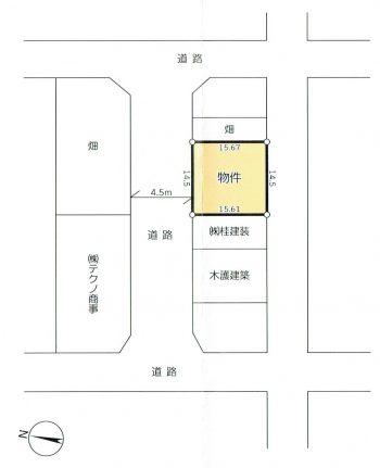 下川入 貸地 区画図