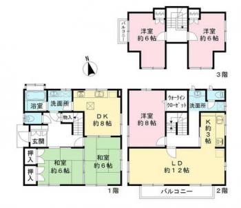 田代 中古住宅 間取り図