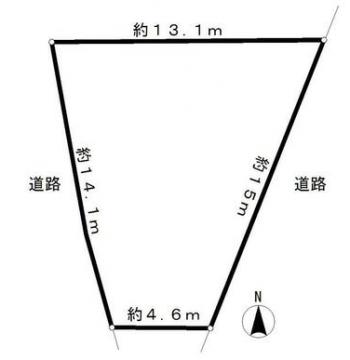 上依知 売地 区画図