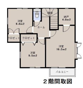 中津 中古住宅 2階間取図