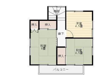 桜台貸家 2階間取図