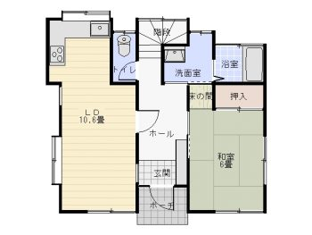 桜台貸家 1階間取図