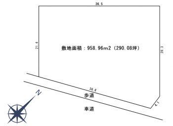 中津 売地 敷地図面